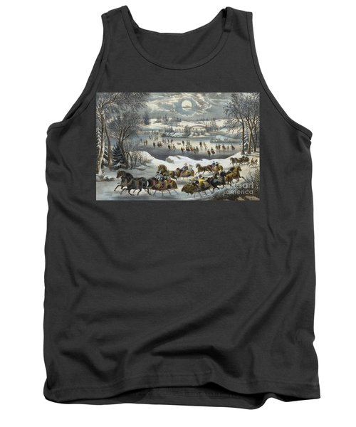 Central Park In Winter Tank Top