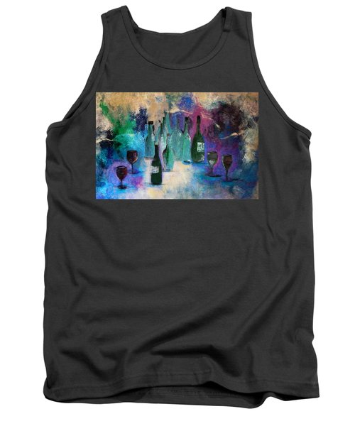 Tank Top featuring the painting Cheers by Lisa Kaiser