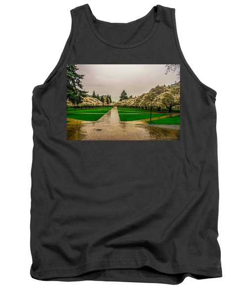 Tank Top featuring the photograph Cherry Blossoms by Jerry Cahill