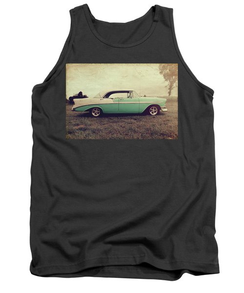 Tank Top featuring the photograph Chevy Bel Air by Joel Witmeyer