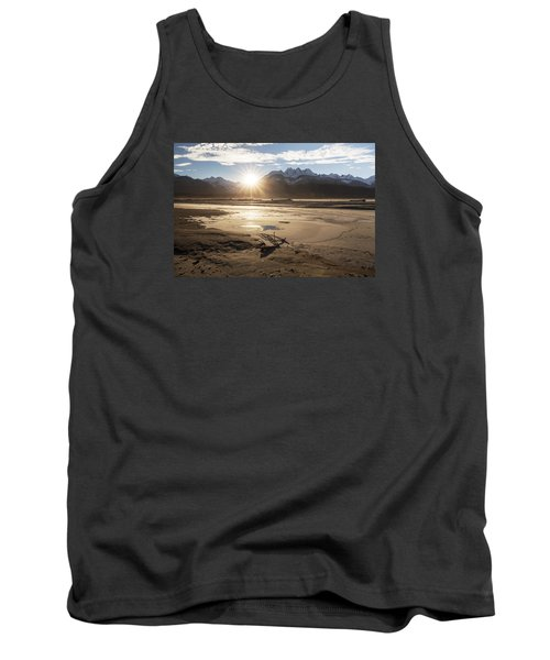 Chilkat River Sunset Tank Top by Michele Cornelius