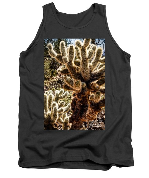 Cholla Cacti Tank Top by Lawrence Burry