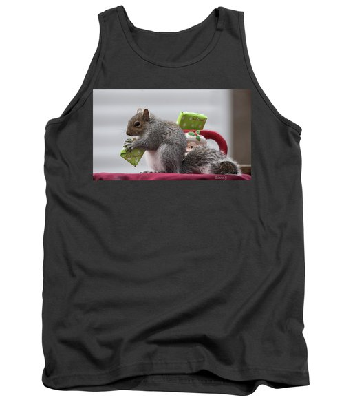 Christmas Squirrel Tank Top