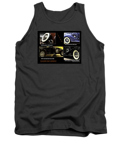 Classic Car Wheels Tank Top by Nancy Marie Ricketts