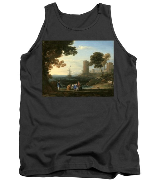 Coast View With The Abduction Of Europa Tank Top