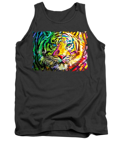 Colorful Tiger Tank Top