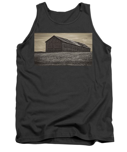 Connecticut Tobacco Barn Tank Top by Phil Cardamone
