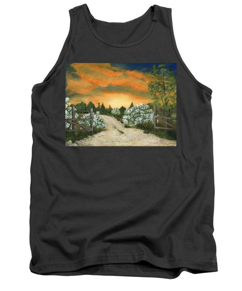 Tank Top featuring the painting Country Road by Anastasiya Malakhova