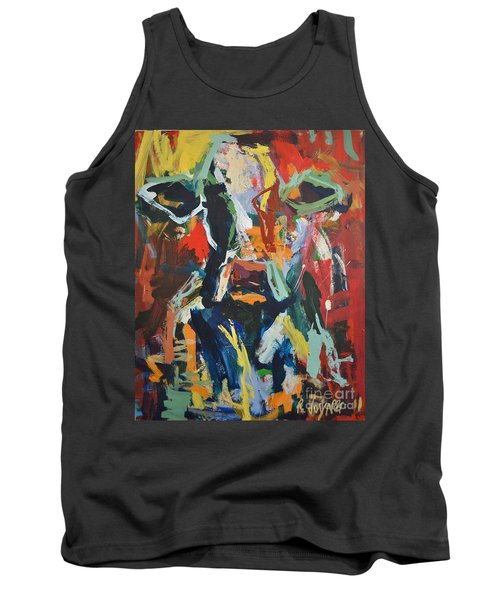 Tank Top featuring the painting Cow Painting by Robert Joyner