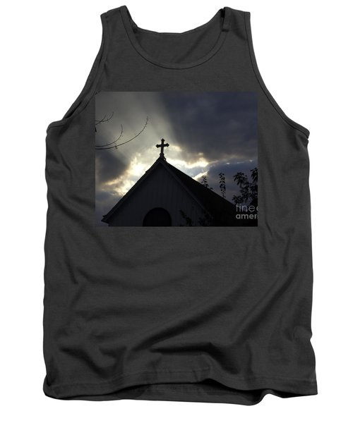 Cross In Sun Rays Tank Top