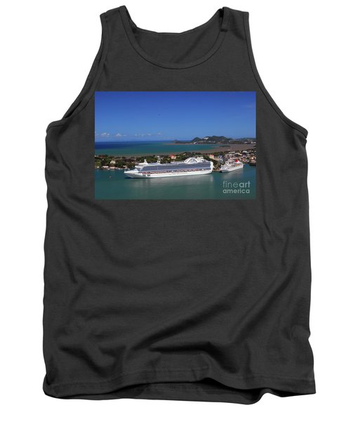 Tank Top featuring the photograph Cruise Port by Gary Wonning