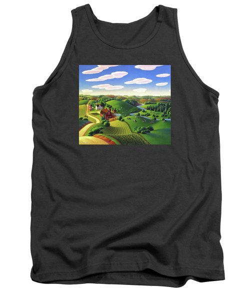 Tank Top featuring the painting Dairy Farm  by Robin Moline