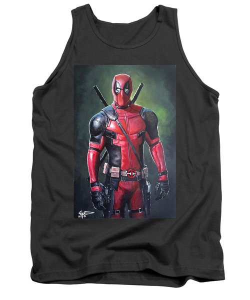 Deadpool Tank Top by Tom Carlton