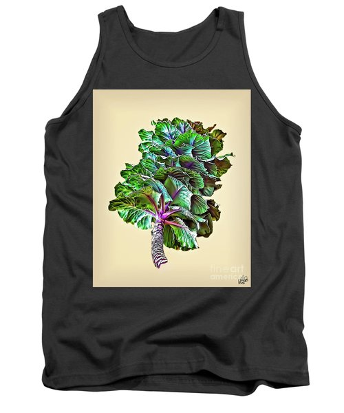 Tank Top featuring the photograph Decorative Cabbage by Walt Foegelle