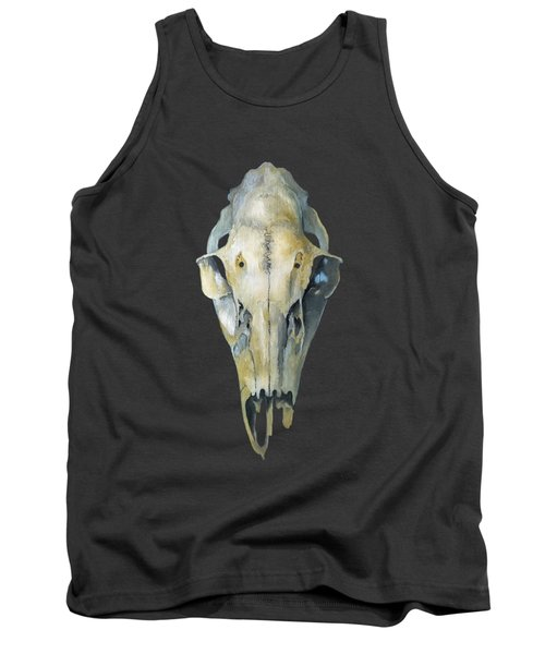 Deer Skull With Aura Tank Top by Catherine Twomey
