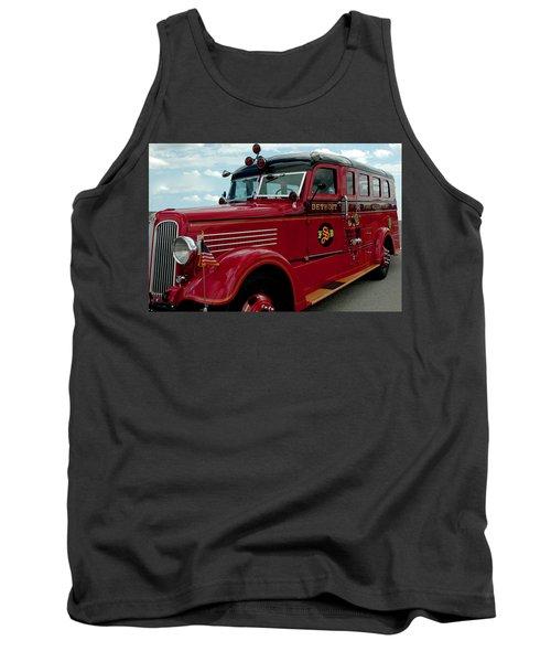 Detroit Fire Truck Tank Top by LeeAnn McLaneGoetz McLaneGoetzStudioLLCcom