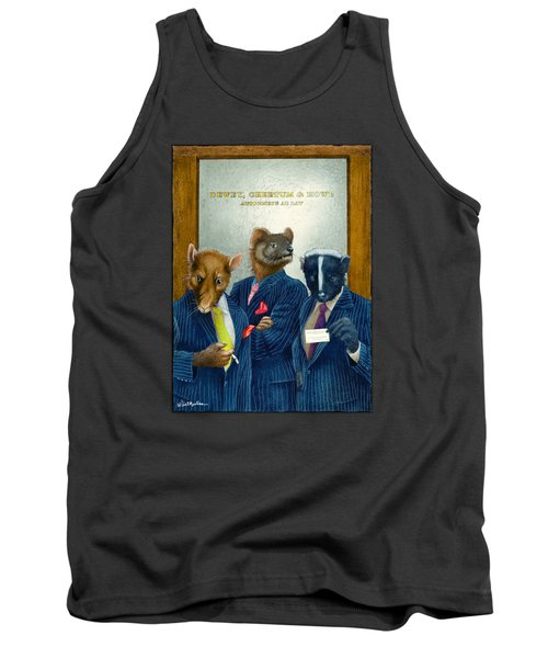 Dewey, Cheetum And Howe... Tank Top by Will Bullas
