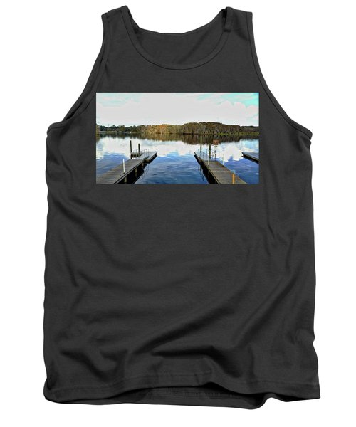 Dock Of The Bay Tank Top by Michael Albright