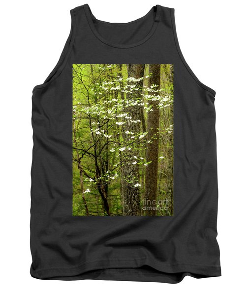 Dogwood Blooming In Forest Tank Top