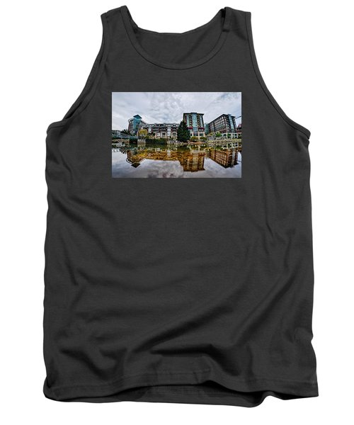 Downtown Of Greenville South Carolina Around Falls Park Tank Top by Alex Grichenko