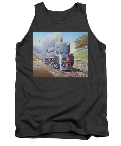 Tank Top featuring the painting Duplex Express by Mike Jeffries