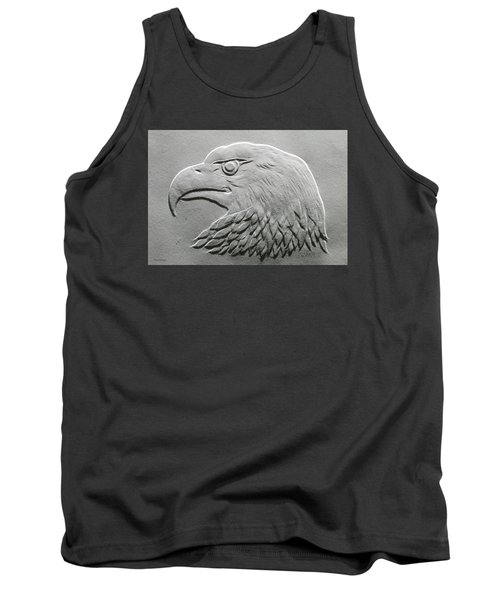 Tank Top featuring the relief Eagle Head Relief Drawing by Suhas Tavkar