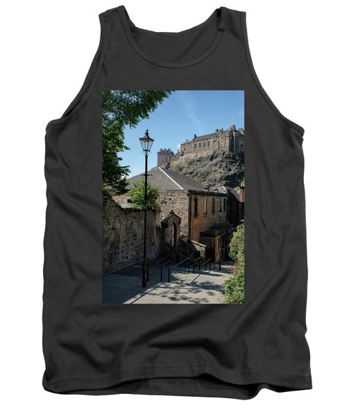 Tank Top featuring the photograph Edinburgh Castle In Scotland by Jeremy Lavender Photography