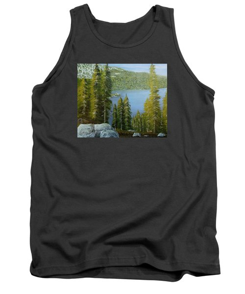 Emerald Bay - Lake Tahoe Tank Top by Mike Caitham