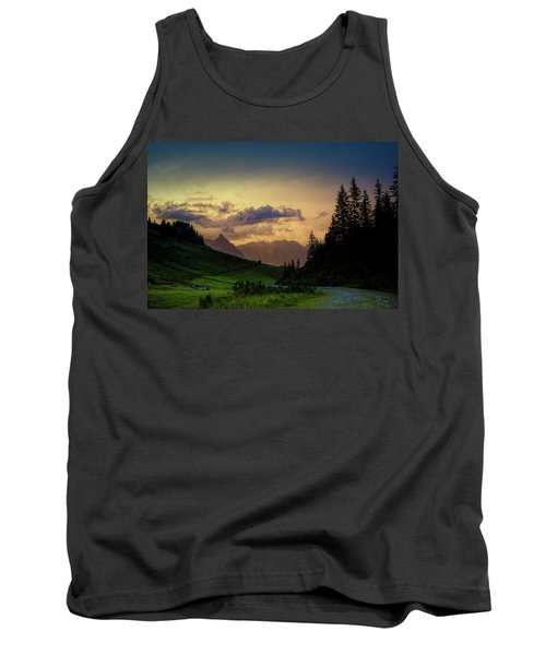Evening In The Alps Tank Top