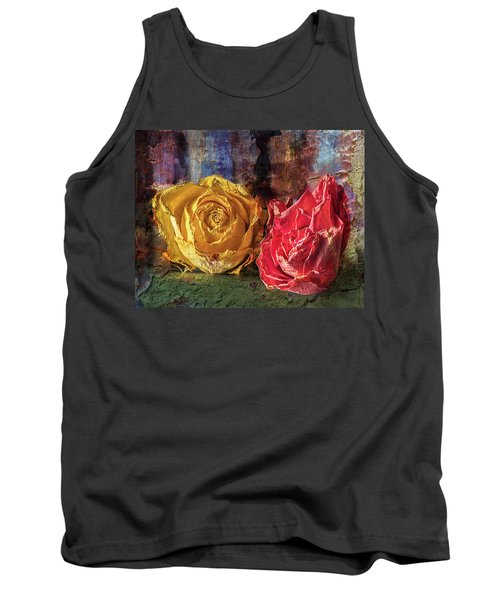 Tank Top featuring the photograph Faded Flowers by Vladimir Kholostykh