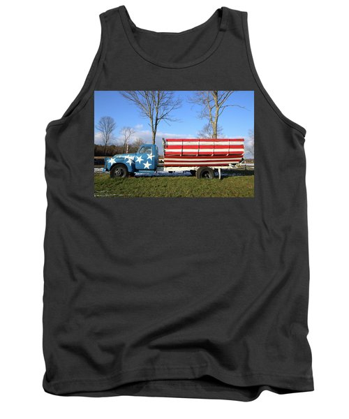 Farm Truck Wading River New York Tank Top