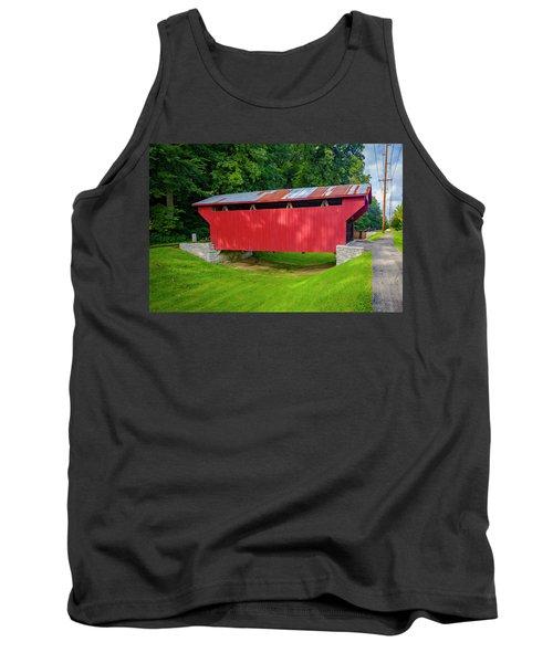 Feedwire Covered Bridge - Carillon Park Dayton Ohio Tank Top
