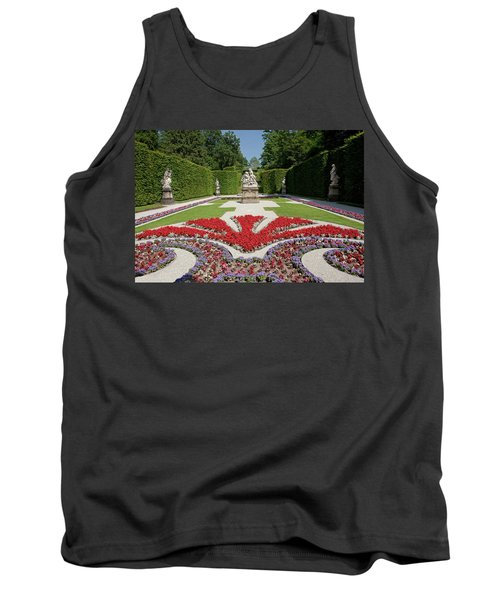 Flowerbeds And Sculptures In Eastern Parterre Tank Top