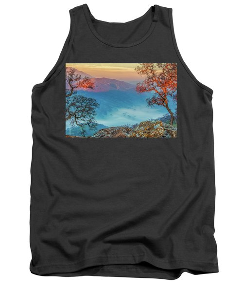 Fog In The Valley Tank Top by Marc Crumpler