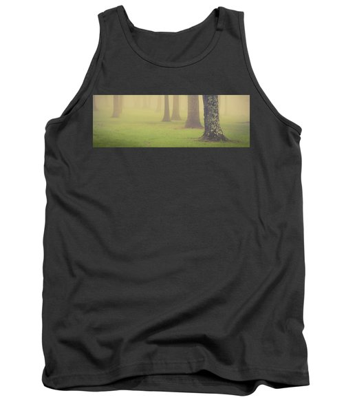 Tank Top featuring the photograph Foggy Trees Pano by Joye Ardyn Durham