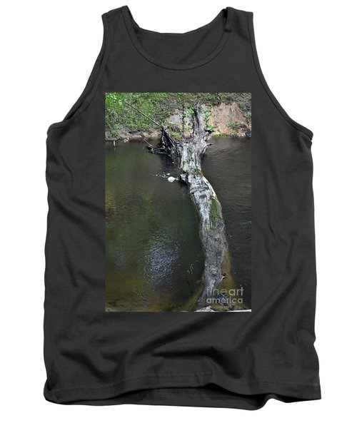 Tank Top featuring the photograph Footbridge by Skip Willits