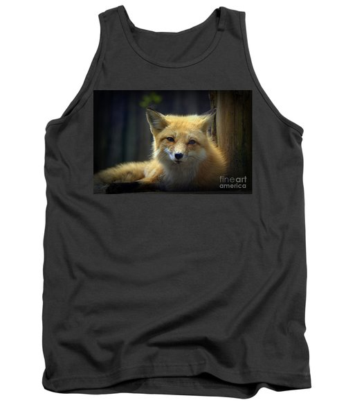 Tank Top featuring the photograph Fox by Lisa L Silva