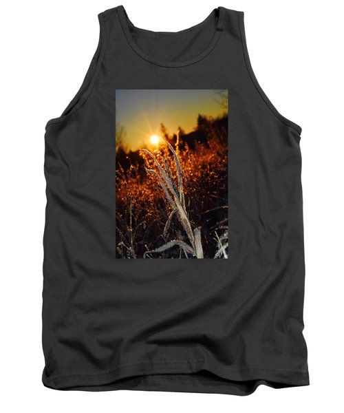 Tank Top featuring the photograph Frosty Sunrise by Dacia Doroff