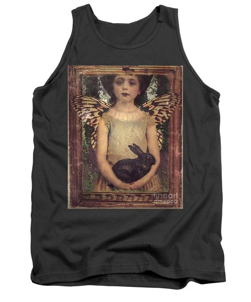 Tank Top featuring the digital art Girl In The Garden by Alexis Rotella