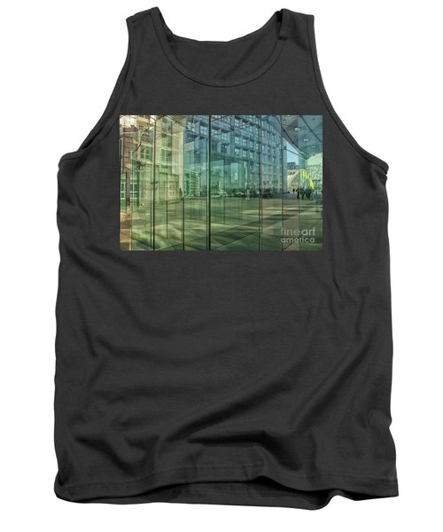 Tank Top featuring the photograph Glass Panels At Le Grande Arche by Patricia Hofmeester