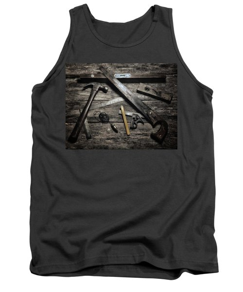 Tank Top featuring the photograph Granddad's Tools by Mark Fuller