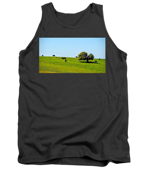 Grazing In The Grass Tank Top by AJ Schibig