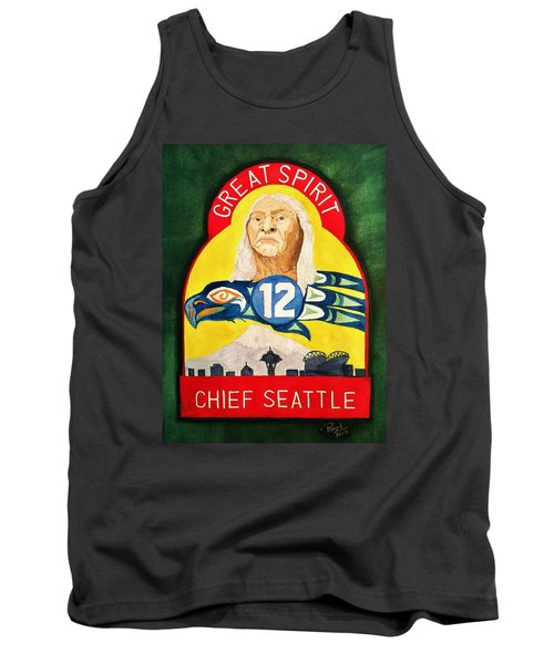 Great Spirit Seattle 12s Tank Top by Rand Swift