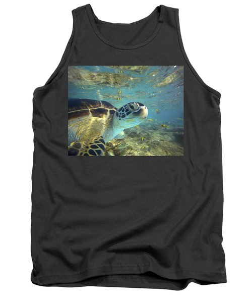 Green Sea Turtle Balicasag Island Tank Top