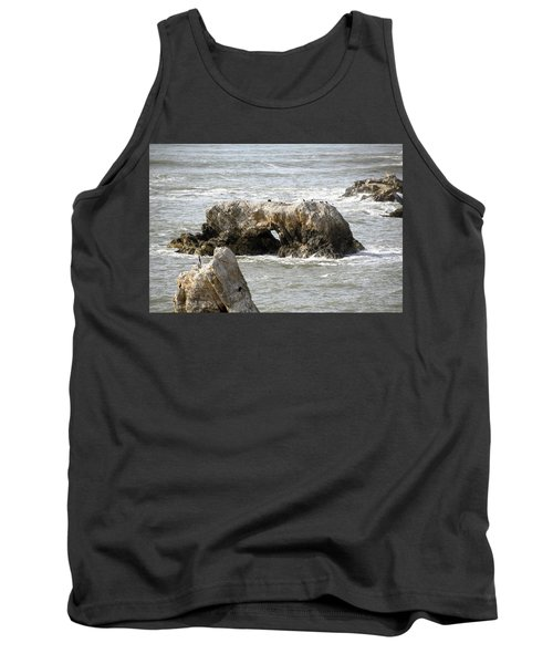 Tank Top featuring the photograph Grey Water At Window Rock by Barbara Snyder