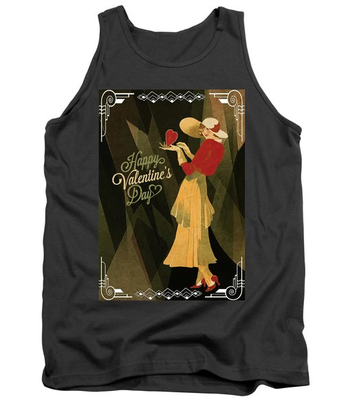 Tank Top featuring the digital art Happy Valentines Day by Jeff Burgess
