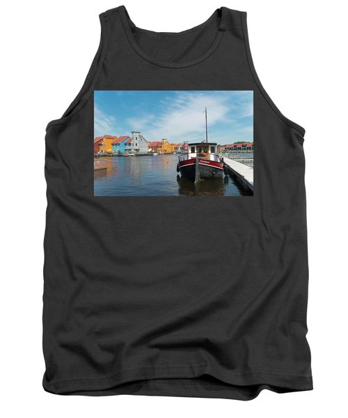 Harbor In Groningen Tank Top by Hans Engbers