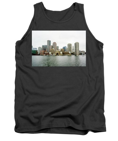 Tank Top featuring the photograph Harbor View by Greg Fortier