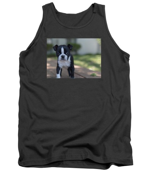 Tank Top featuring the photograph Harley As A Puppy by Lora Lee Chapman