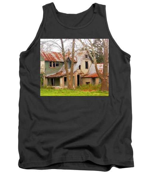 Haunted House Tank Top by Marty Koch
